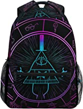 IMOBABY Personalized Bill Cipher Wheel Zodiac School Backpack Book Bag Travel Daypack for Boys Girls