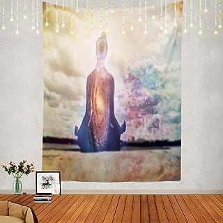Shrahala Meditation Tapestry, Buddha Zen Happiness Wall Hanging Large Mandala Tapestry Psychedelic Tapestry Decorations Be...