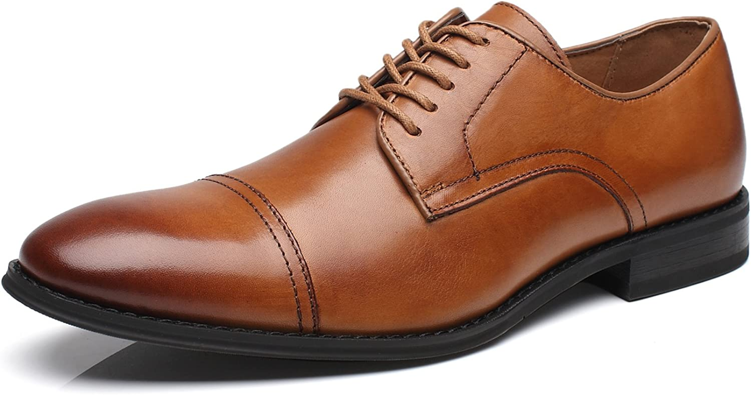 La Milano Latest item Mens Leather Updated Classic Dres Cap Toe Lace Oxfords Max 42% OFF