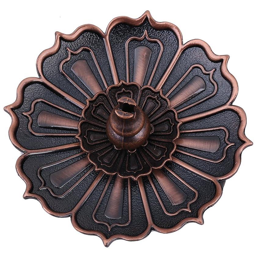 請求ようこそバス蓮の香プレートホルダーヴィンテージ香バーナーカバーブロンズ蓮の花とひょうたん型お香ホルダー装飾風水