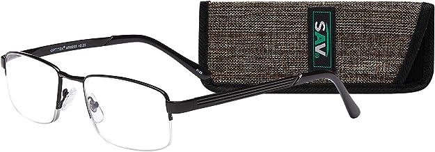 Optitek Readers (AR6255) by SAV Eyewear, Premium Quality AR Coated Lenses, Semi Rim