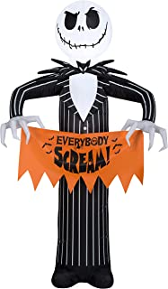 Disney Halloween Inflatable 5' Jack Skellington The Nightmare Before Christmas Airblown Decoration Everybody Scream