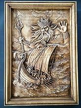 Woodcarving of Njord - The Sea God | Neptune, Poseidon, Norse Gods, Viking Art, Nordic art, Pagan Art, Pagan Gift | Wall art decoration | Beechwood | Handmade Woodwork | Custom sizes | FREE SHIPPING