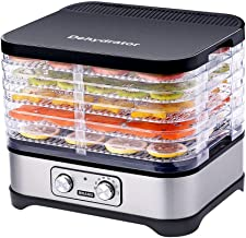 Déshydrateur de nourriture, petit séchoir à fruits en acier inoxydable, contrôleur de température à 8 fichiers 35-70 ° C e...