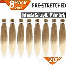 8 Packs Pre-Stretched Braiding Hair 20