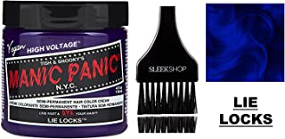 MANIC PANIC CLASSIC Semi-Permanent HAIR COLOR Cream N.Y.C. (w/Sleek Tint Brush) Tish & Snooky's VEGAN High Voltage Haircolor Dye 4 oz / 118 ml (Lie Locks)