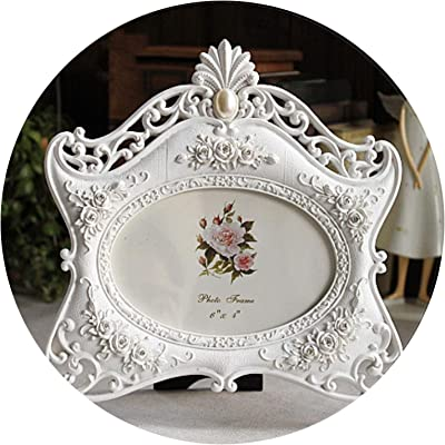b6c130a94b1 Relief Picture Frame Rose Flower Resin Photo Frame Gift Wedding Home Living  Room Decorate Desktop Photo