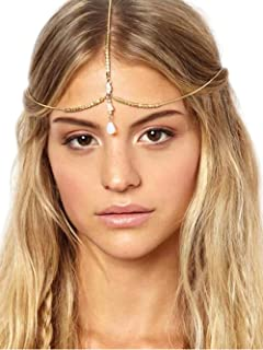 Jovono Head Chain for Women and Girls Headpieces With Water Drop Pendant