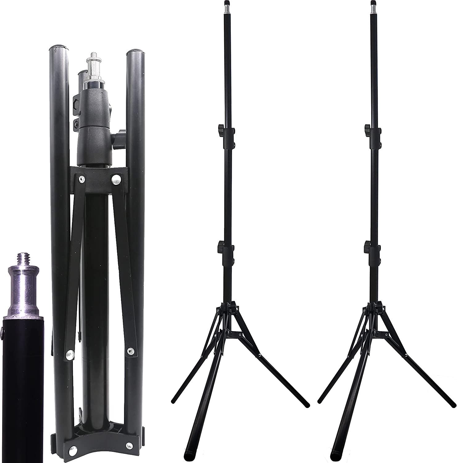 4.2 Foot Aluminum Tripod Stand Portable Heavy-Duty Foldable Over item handling ☆ and 2021
