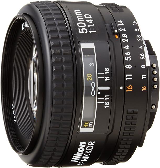 Nikon Nikkor 50 mm f 1:14D- Objetivo para Nikon (Diámetro: 64mm) color negro