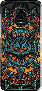 Shopezzz Bazaar Angry Owl 3D Printed Hard Mobile Back Cover Case For Redmi Note 9 Pro/Note 9 Pro Max/Poco M2 Pro - Multi-C...