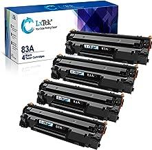 LxTek Compatible Toner Cartridge Replacement for HP 83A CF283A to use with Laserjet Pro MFP M125nw M201dw M225dw M201n M125a M127fn M127fw, 4 Black
