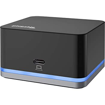 Plugable USB C Cube - Mini Docking Station, Compatible with Thunderbolt 3 Ports and Specific USB-C Systems (No Host Charging, Connect 1x HDMI up to 4K @30Hz Monitor, Ethernet, 3X USB Ports)