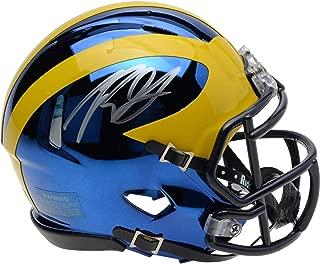 Rashan Gary Michigan Wolverines Autographed Riddell Chrome Alternate Speed Mini Helmet - Fanatics Authentic Certified