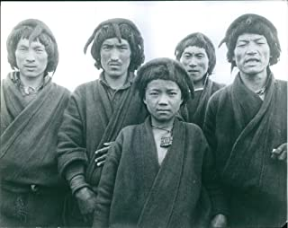 Vintage photo of People of Himalaya standing together.Some of the tribes predominant in this region of North East India and the neighboring the area of Sikkim, Nepal, Bhutan, parts of West Bengal, Assam, Arunachal Pradesh (North East India) etc. Only in Arunachal Pradesh itself there are over 80 tribes and sub-tribes of Indo - Mongoloid origin.