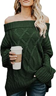 off the shoulder sweater green