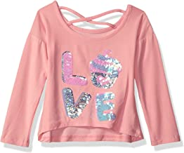Colette Lilly Girls Long Sleeve Sequin Tee Long Sleeve Shirt