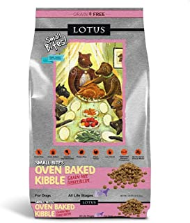 Lotus Wholesome Grain Free Small Bites Turkey Recipe Dry Dog Food, 10 Lb Bag