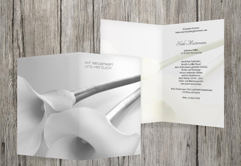 suministro directo de los fabricantes Agradecimiento luto luto luto Calla, hellesgris, 40 Karten  artículos novedosos