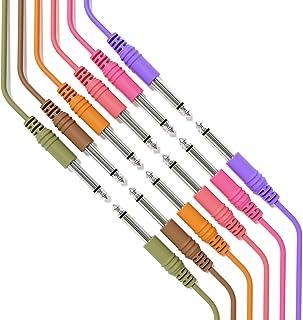 "ExcelValley - 6B-Pack - Cable de Guitarra de Instrumento Mono - Conexión Conducción TS 6,35mm 1/4"" [180cm 71""]"
