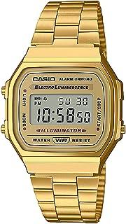 ساعة يد بسوار ستانلس ستيل ومينا رقمية للسيدات من كاسيو - A168WG-9WEF
