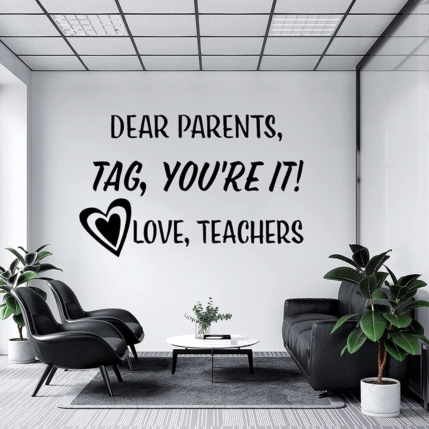 Wall Decal Dear Parents Tag You're Bedroo Perfect Manufacturer Las Vegas Mall OFFicial shop It, for Kids