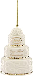Lenox 884549 2019 Our 1st Christmas Together Cake Ornament