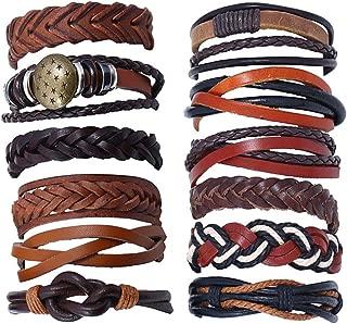 3-30PCS Leather Bracelets for men women Cuff Wristbands 15-25CM(5.91-9.84
