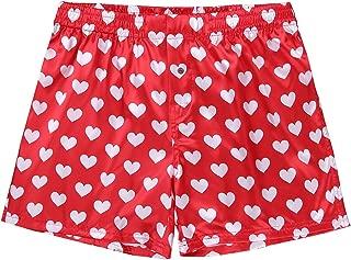 ACSUSS Men's Frilly Satin Boxers Shorts Silk Summer Lounge Halloween Underwear