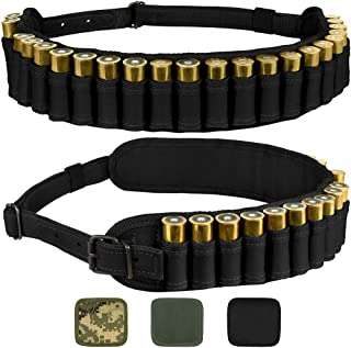 BRONZEDOG Waterproof Shotshell Holder Nylon Belt Case Ammo Gauge Adjustable Shotgun Rounds Shoulder Bandolier Hunting Accessories 12 16 Gauge