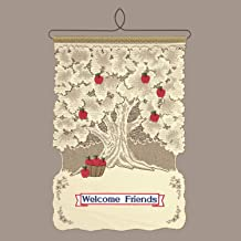 Heritage Lace Welcome Friends Wall Hanging, Ecru