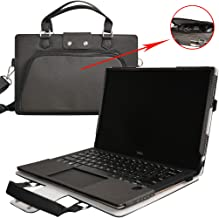 XPS 15 9560 9550 9570 9575 Case,2 in 1 Accurately Designed Protective PU Leather Cover + Portable Carrying Bag for 15.6