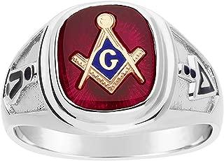 Sterling Silver Blue Lodge Masonic Ring