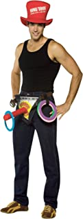 Men's Comical Ring Toss Outfit Carnival Theme Party Halloween Funny Costume