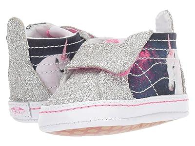 Vans Kids SK8-Hi Crib (Infant/Toddler) ((Digi Unicorn) Black/True White) Girls Shoes