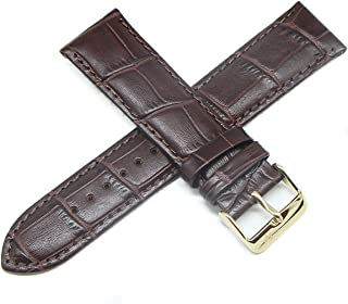 Lucien Piccard 22MM Alligator Grain Real Leather Watch Band 8.5