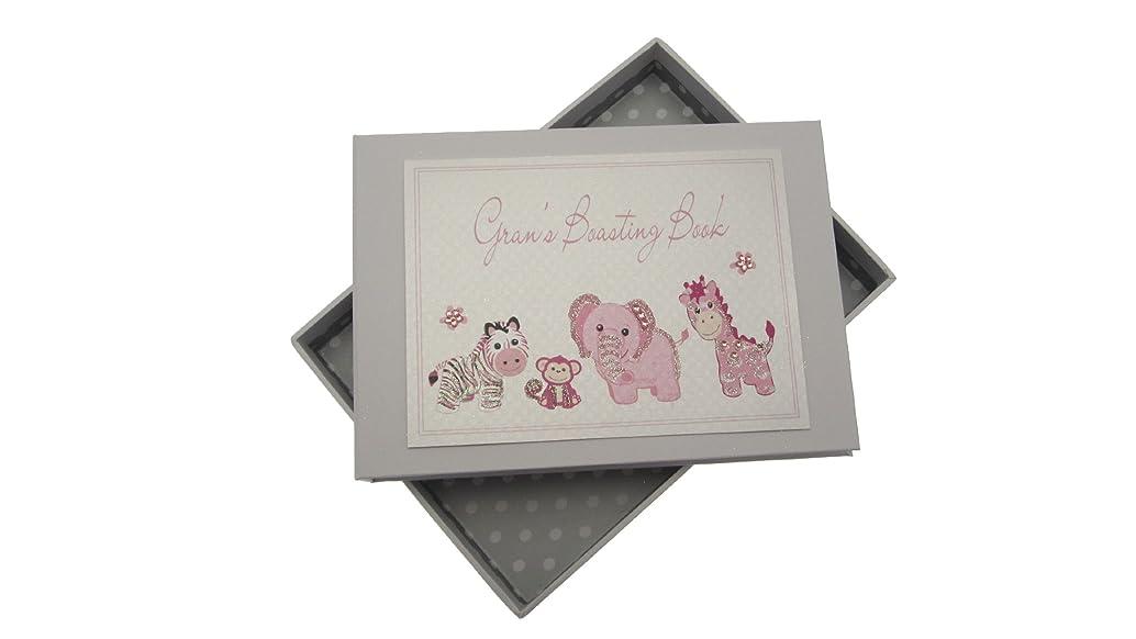 White Cotton Cards Gran's Boasting Book Tiny Photo Album Toys Range (Pink)