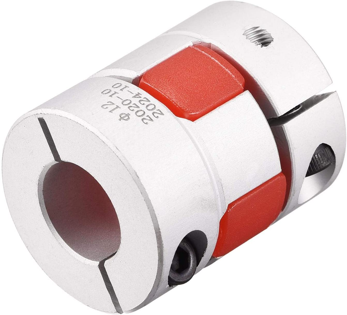 uxcell Omaha Mall 6.35mm to 12mm Bore Jaw Factory outlet L31xD25 Flexible Coupler Coupling