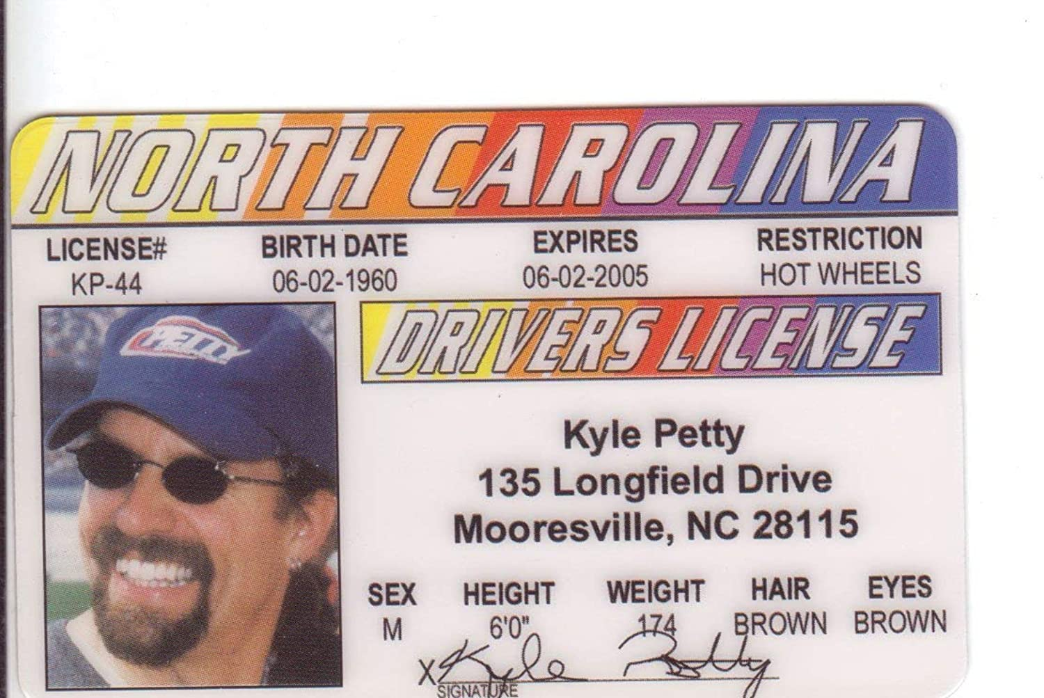 Kyle Petty Petty Petty Novelty Drivers License Fake I d