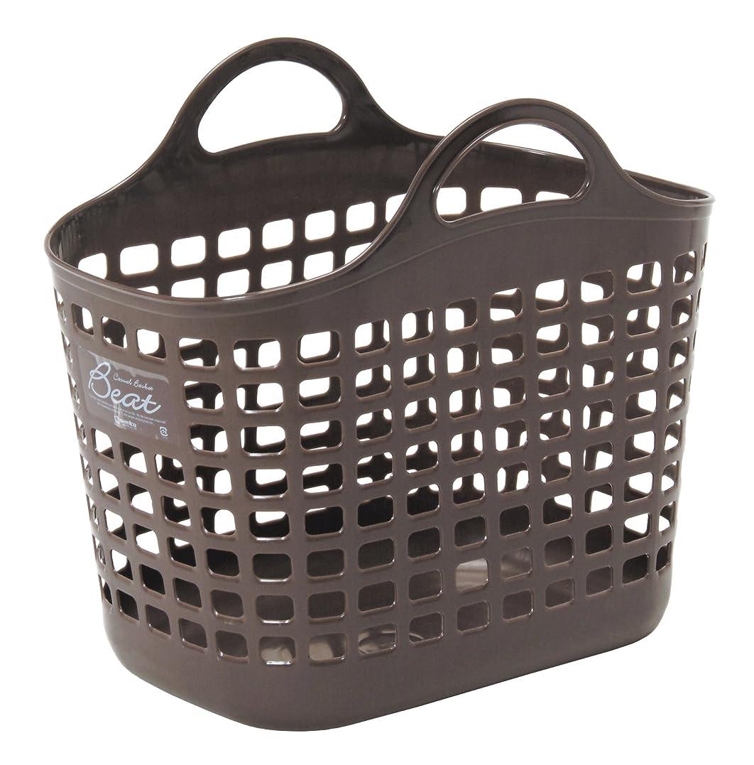 感染するできた信頼性のあるサンコープラスチック 日本製 ランドリーバスケット ビート バスケット No.1 ブラウン