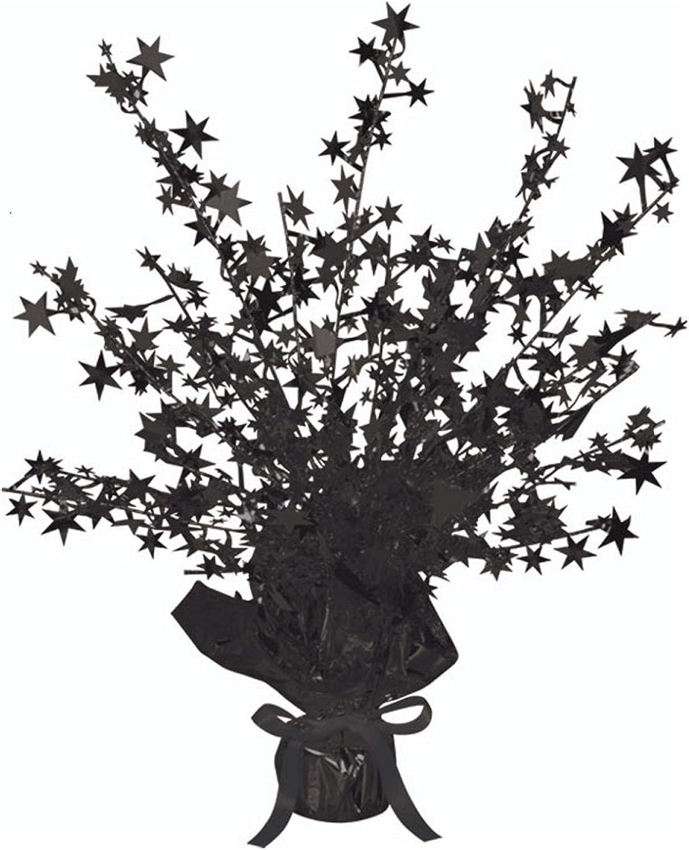 Club Pack of 12 Black Star Gleam 'N Burst Centerpiece Party Decorations 15