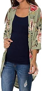 (プタス)Putars ファッションカジュアルショールプリント着物カーディガントップカバーアップブラウスビーチウェア