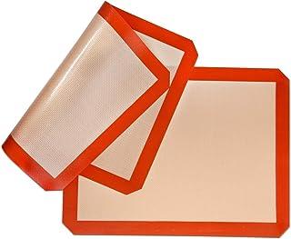 Silicone Baking Mat Non-Stick, Set of 2 Heat Resistant Liner | Cookies, Meats, Vegetables, Pastries | Reusable, Eco-Friend...