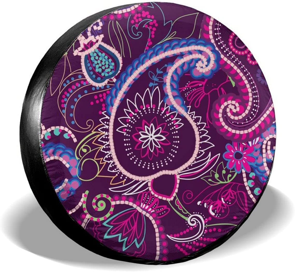 Yilad Spare Tire outlet Easy-to-use Covertraditional Oriental Pattern Paisley Unive