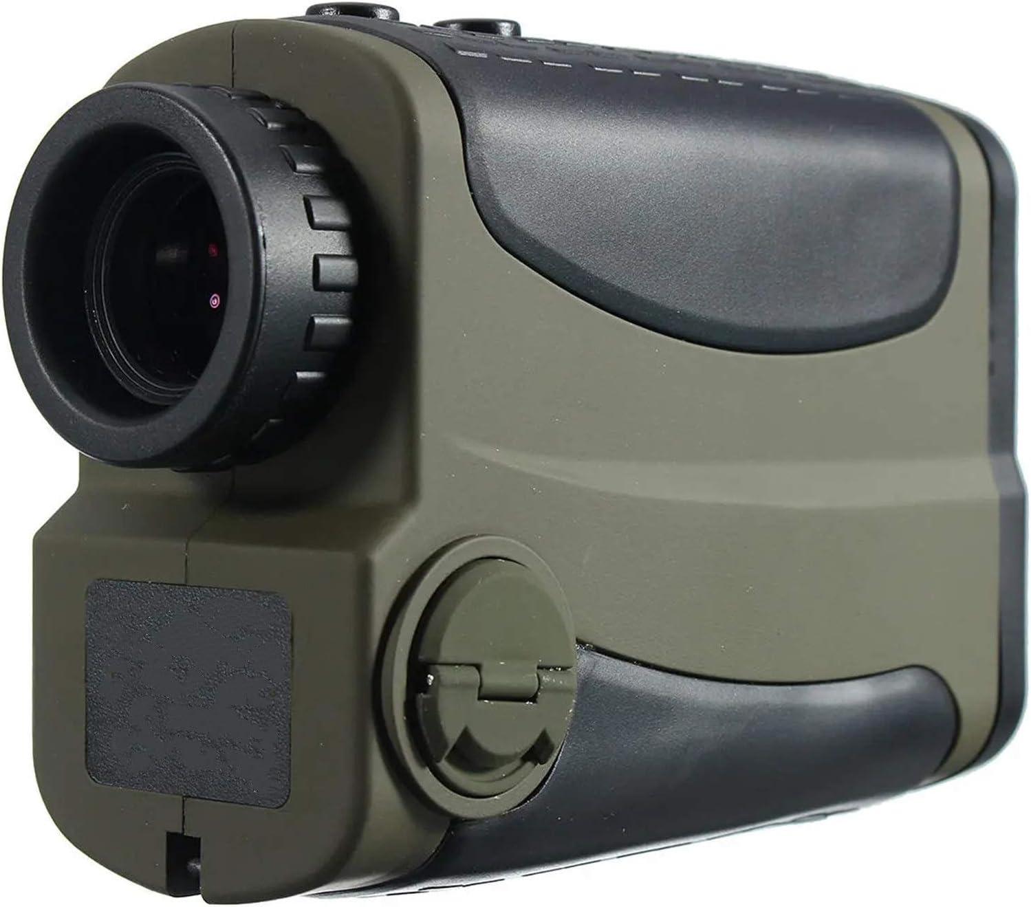 CuteLife Telémetro de Golf Alcance de la Altura de la Altura del ángulo de la Gama de Golf de 700m 6X 6X para la Caza con Arco (Color : Verde, Size : One Size)