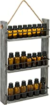 MyGift Wall Mounted Ladder Shelf Distressed Brown Wood & Black Metal Essential Oil/Nail Polish Bottle Holder Display Shelv...