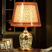 Desk lamp Bedroom Bedside Cabinet Modern Modern European Style 3D Bedside lamp Hotel Club KTV bar Decorative lamp,A Button