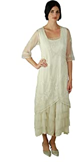 Women's Titanic Vintage Style Wedding Dress in Ivory