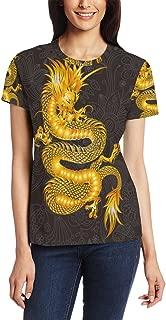 Chinese Dragon Women's 3D Printed Short Sleeve T-Shirt Top Tee