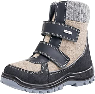 Kotofey Boys White and Black Boots Valenki 757000-42 Woolen Boots